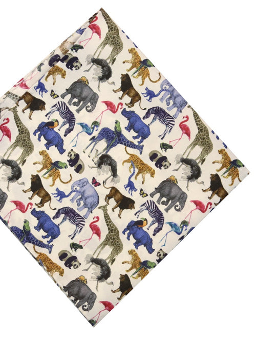 DÉCLIC Ark Day Pattern Hanky - White