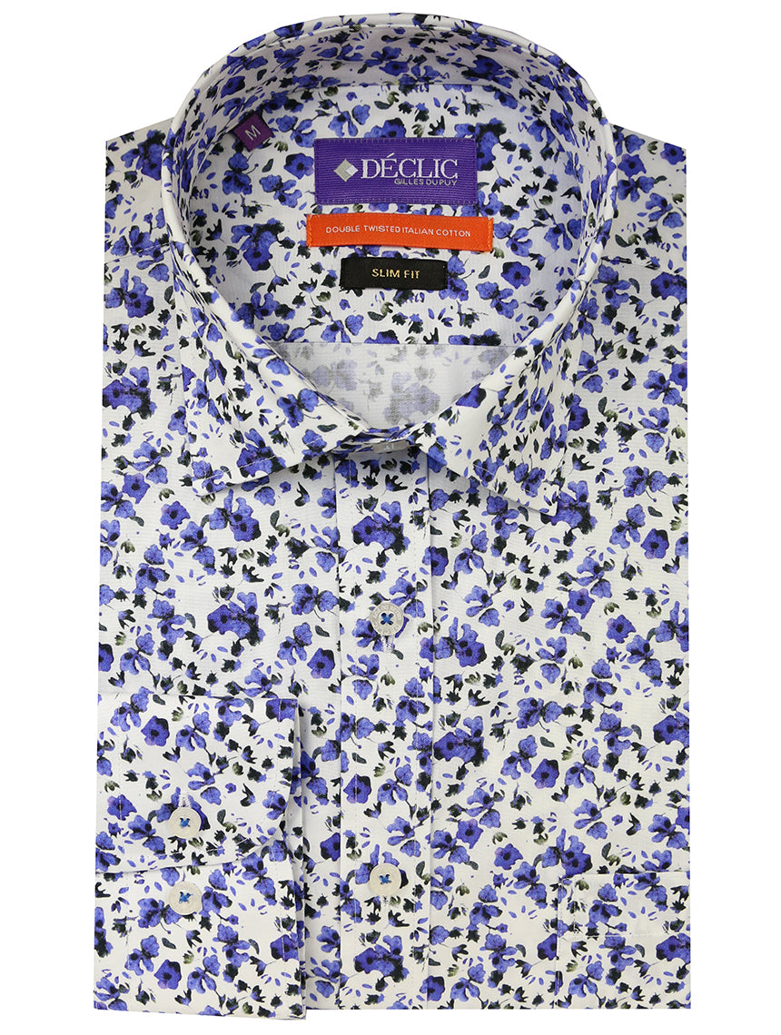 DÉCLIC Cornflower Print Shirt - Blue