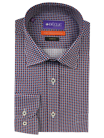 DÉCLIC Dursley Check Shirt - Orange