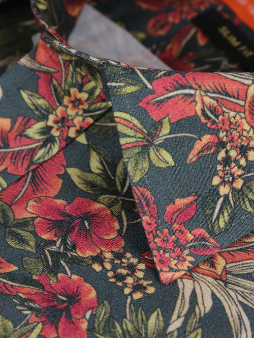 DÉCLIC Hilo Floral Print Short Sleeve Shirt - Assorted