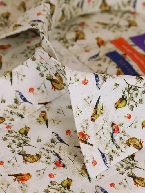 DÉCLIC Passero Bird Print Shirt - Assorted