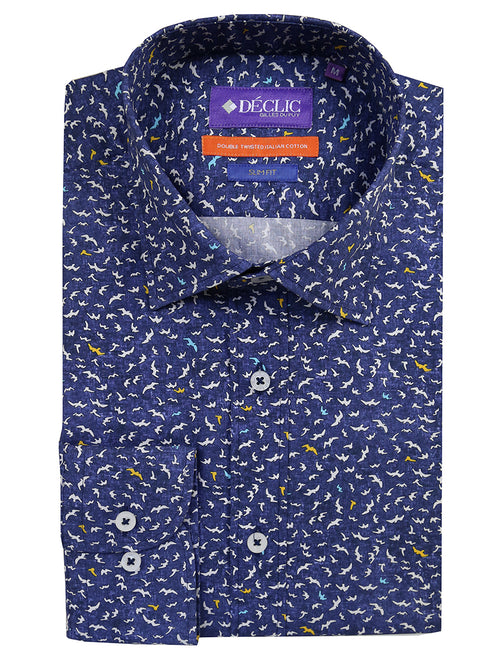 DÉCLIC Volo Print Shirt - Blue