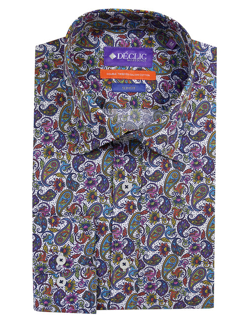 DÉCLIC Kashmir Paisley Print Shirt - Assorted