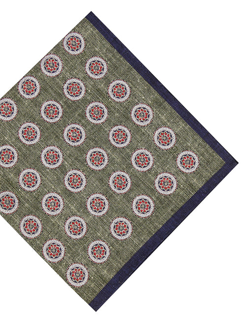 DÉCLIC Pirli Pocket Square - Olive