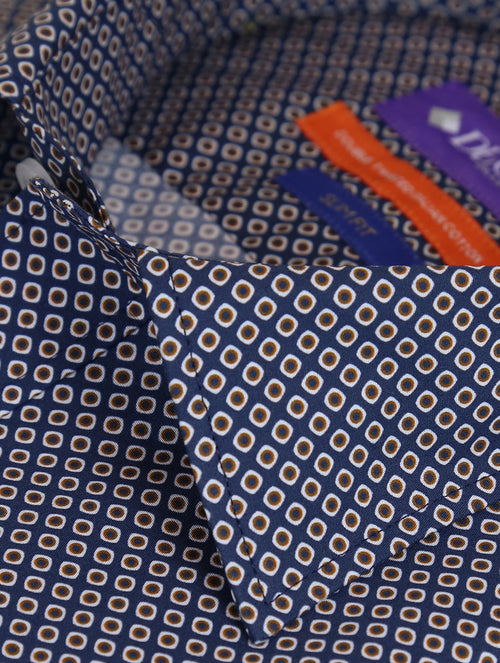 DÉCLIC Lanza Print Shirt - Blue