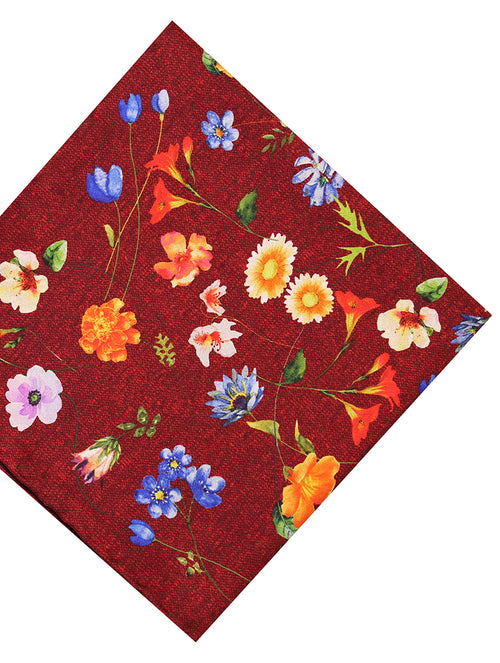 DÉCLIC Aires Floral Hanky - Red