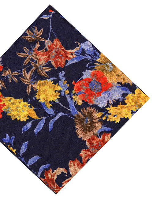 DÉCLIC Mirfield Floral Hanky - Navy