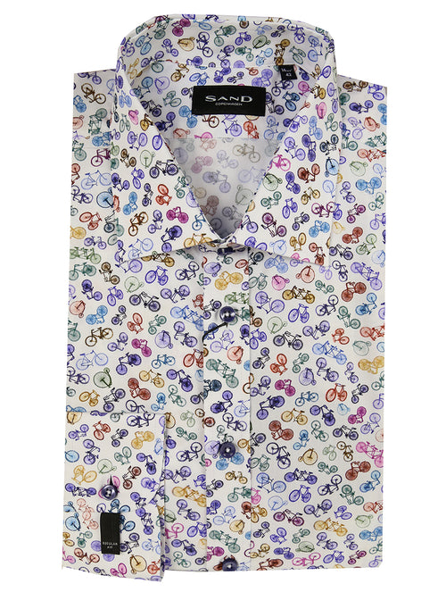 SD Bike Print Shirt - Assorted