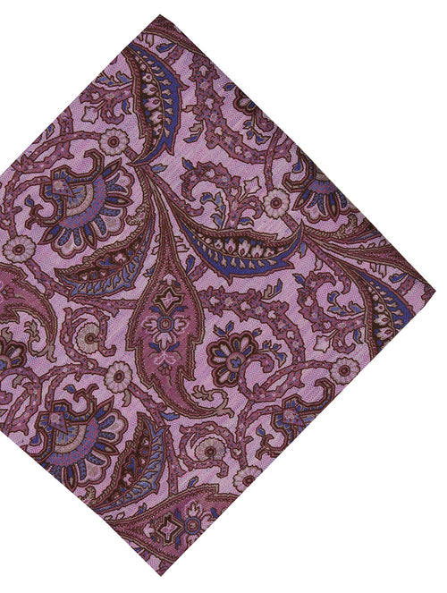 DÉCLIC Enprime Floral Pocket Square - Purple