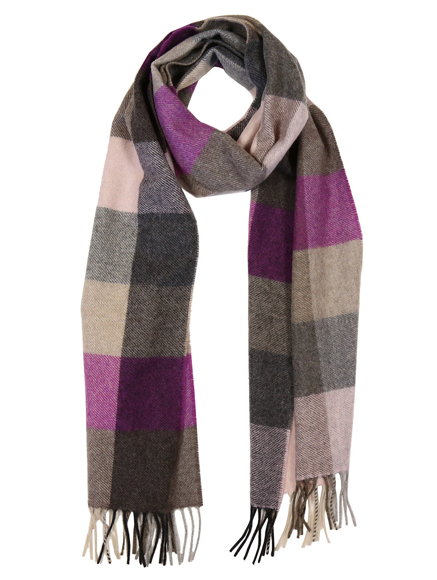 DÉCLIC New Haven Check Scarf - Fuschia