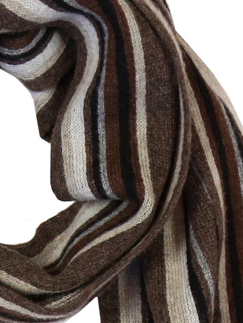 DÉCLIC Harvard Stripe Scarf - Chocoloate