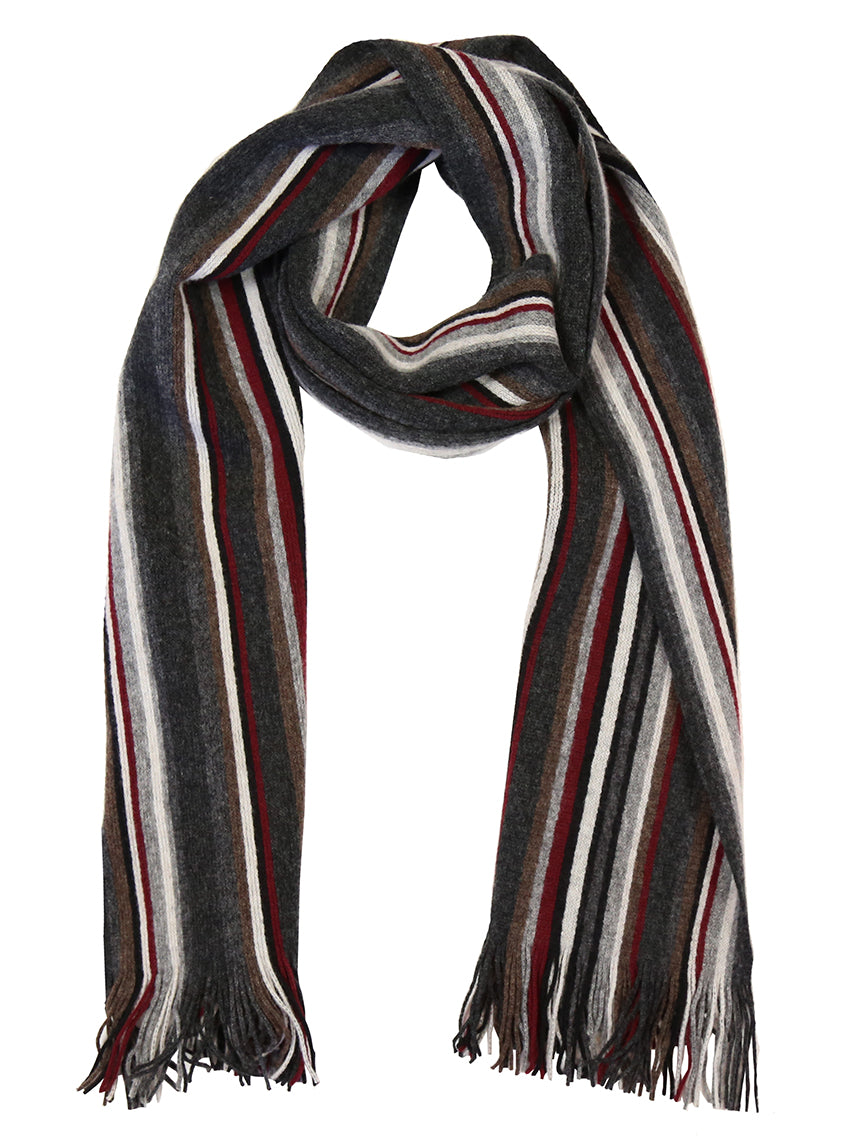 DÉCLIC Harvard Stripe Scarf - Burgundy