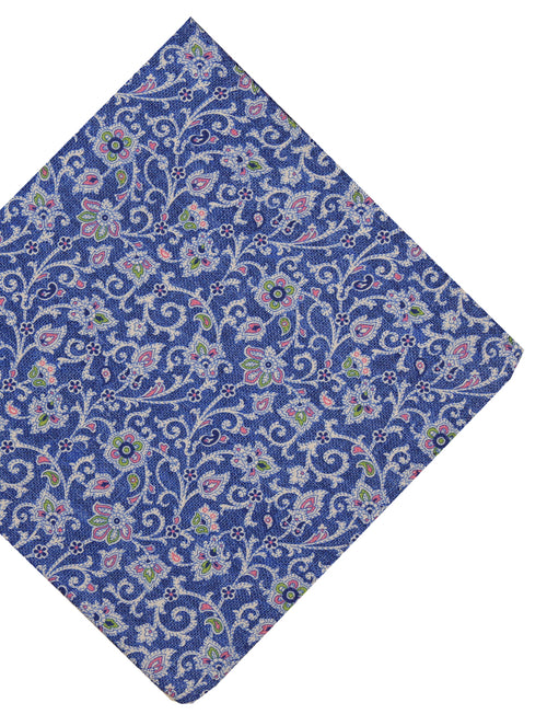 DÉCLIC Revy Floral Pocket Square - Blue
