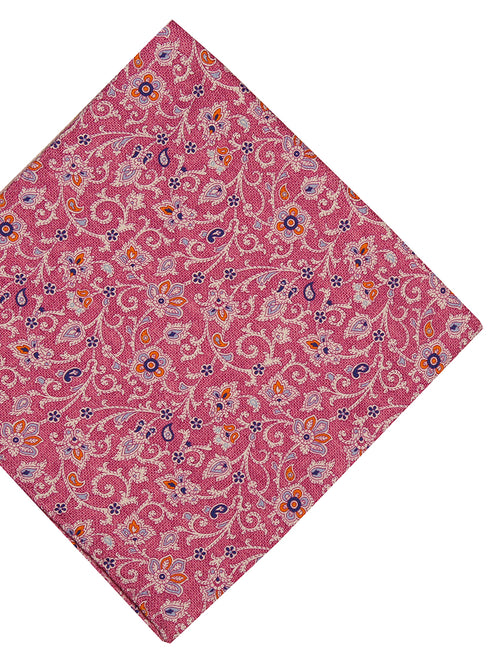 DÉCLIC Revy Floral Pocket Square - Pink
