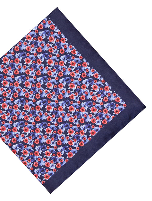 DÉCLIC Mere Floral Hanky - Navy