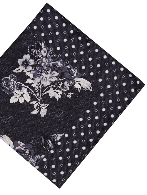 DÉCLIC Rive Pocket Square - Black