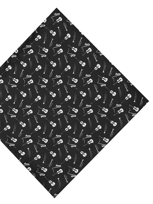 DÉCLIC Musical Instrument Hanky - Black