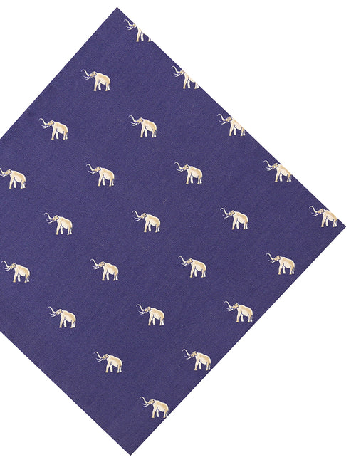 DÉCLIC Elephant Walking Hanky - Navy