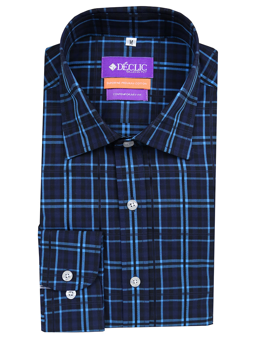DÉCLIC Kabuti Check Shirt - Aqua