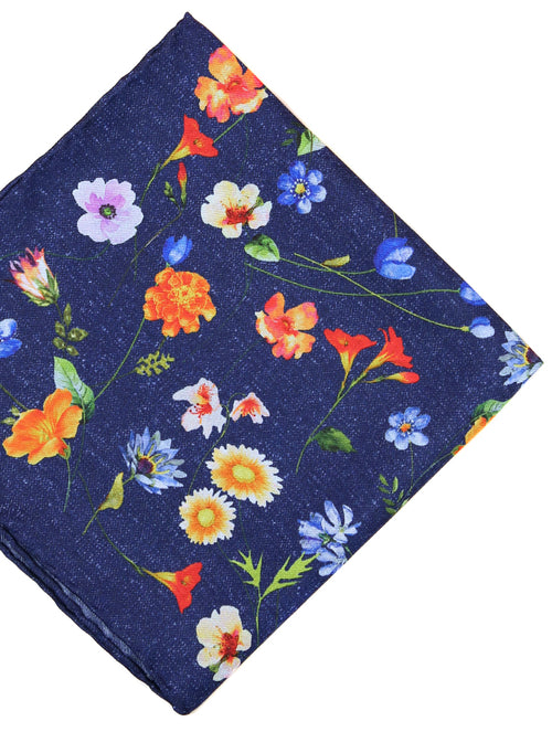 DÉCLIC Aires Floral Hanky - Navy