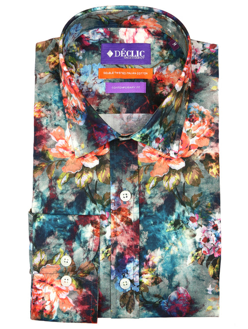 DÉCLIC Forged Floral Print Shirt - Assorted