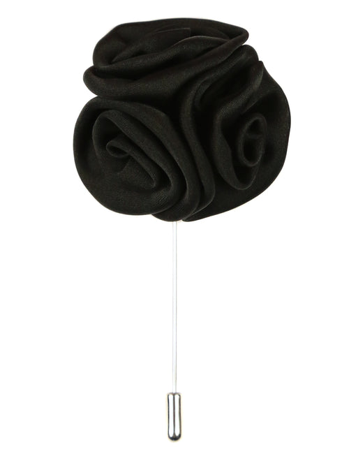 DÉCLIC Rose Cluster Lapel Pin - Black