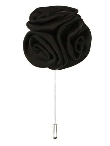 DÉCLIC Rose Cluster Lapel Pin - White