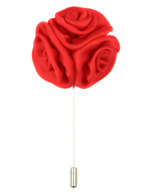 DÉCLIC Rose Cluster Lapel Pin - Red