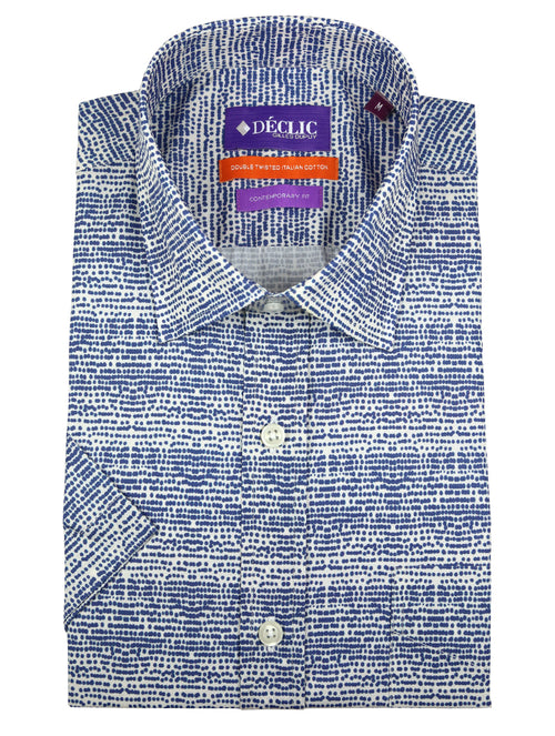 DÉCLIC Gene Spot Print Short-Sleeve Shirt - Blue
