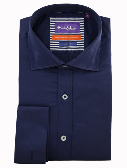 DÉCLIC Guilded Plain Shirt - Navy