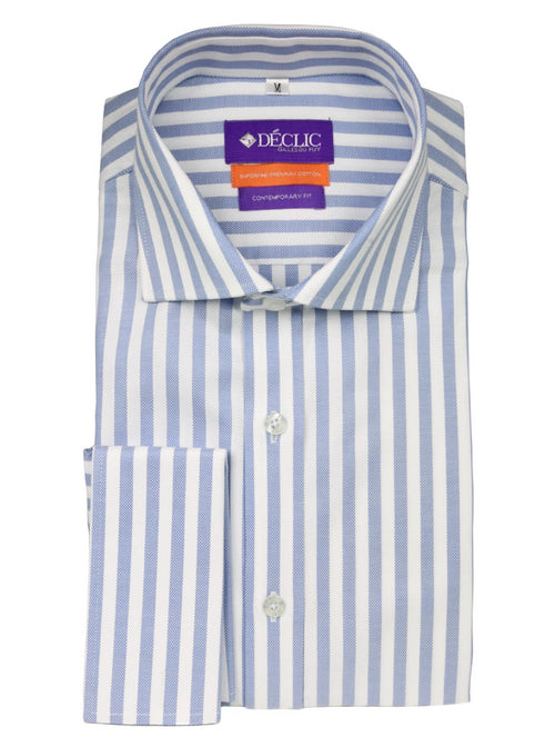 DÉCLIC Hall Oxford Stripe Shirt - Blue