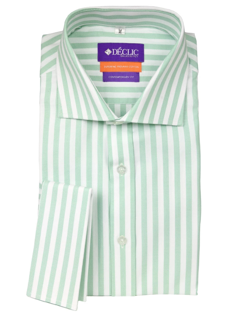DÉCLIC Hall Oxford Stripe Shirt - Mint