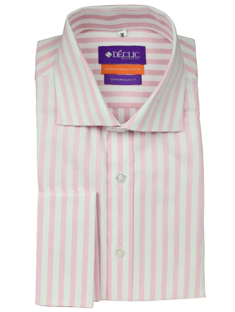 DÉCLIC Hall Oxford Stripe Shirt - Pink