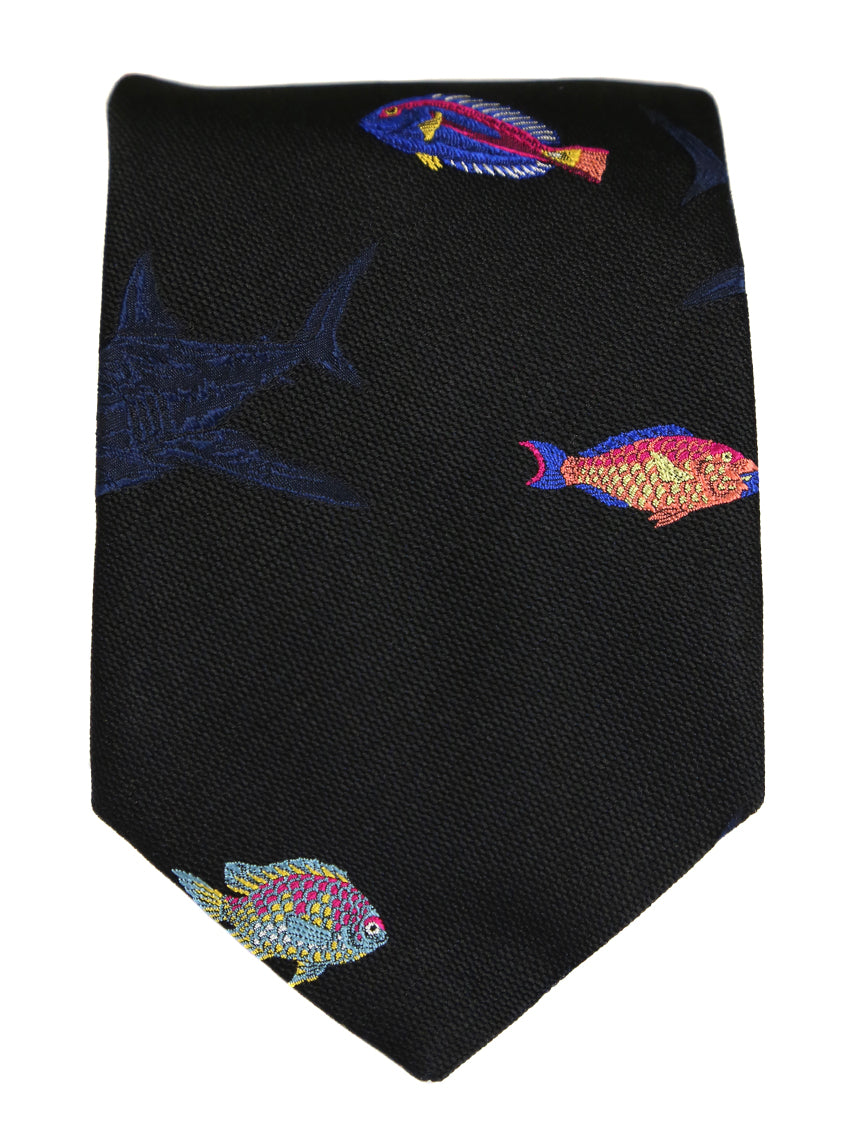 DÉCLIC Shark Tank Theme Tie - Assorted/Black