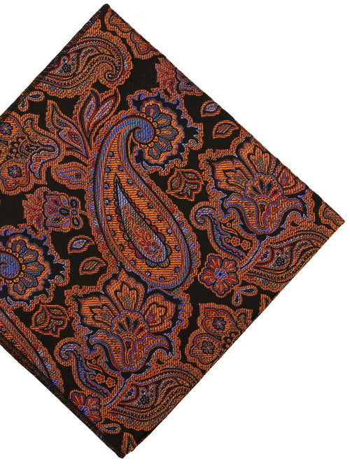 DÉCLIC Festival Paisley Hanky - Orange/Black