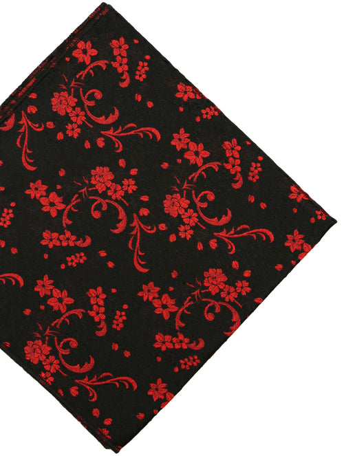 DÉCLIC Lux Floral Hanky - Red/Black