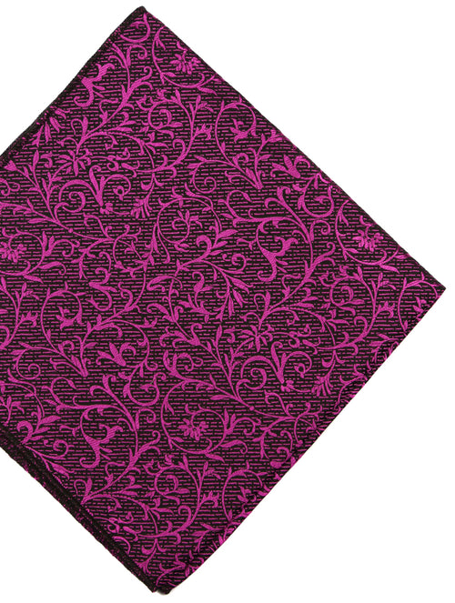 DÉCLIC Tendril Floral Hanky - Fuschia