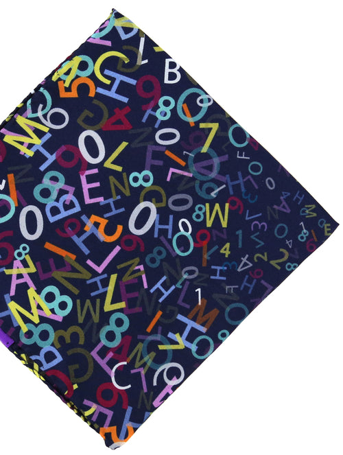 DÉCLIC Letters & Numbers Hanky - Navy