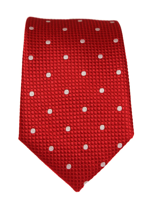 DÉCLIC Classic Spot Tie - Red/White