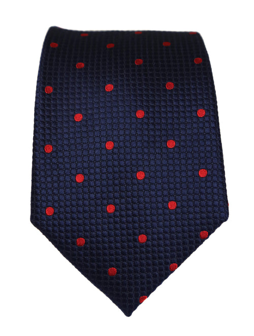 DÉCLIC Classic Spot Tie - Navy/Red