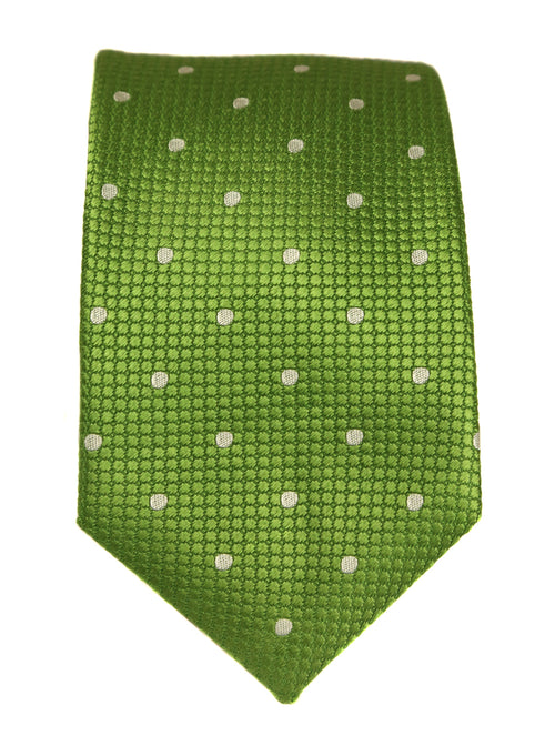 DÉCLIC Classic Spot Tie - Green/White