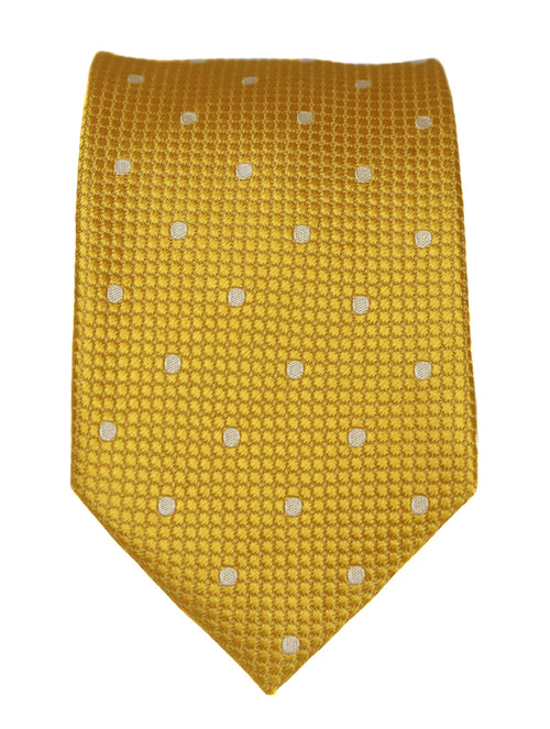 DÉCLIC Classic Spot Tie - Yellow/White