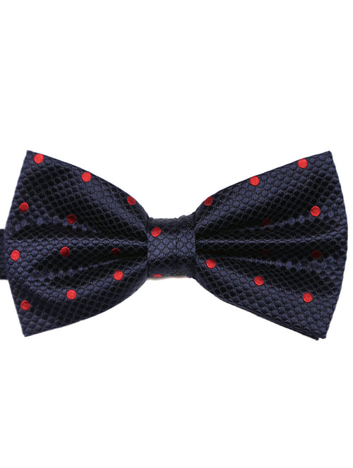 DÉCLIC Classic Spot Bow Tie - Navy/Red