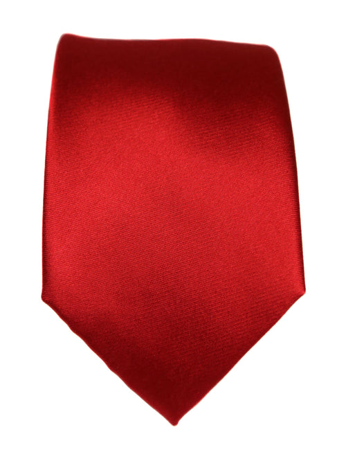 DÉCLIC Classic Plain Tie - Red