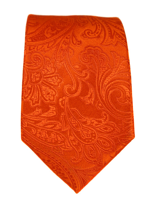 DÉCLIC Classic Paisley Tie - Orange