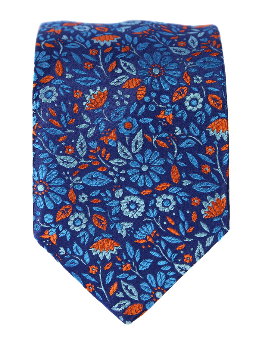 DÉCLIC Meadow Floral Tie - Blue