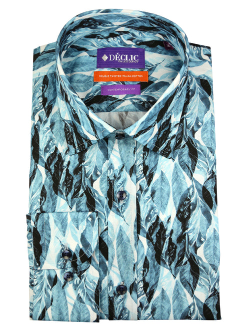 DÉCLIC Native Print Shirt - Blue