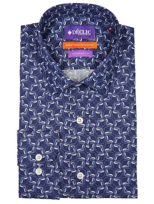 DÉCLIC Ossy Print Shirt - Blue