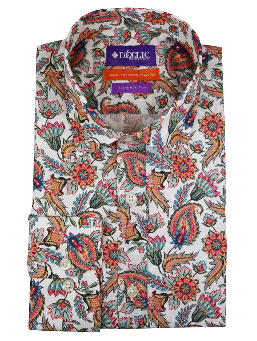 DÉCLIC Painted Paisley Print Shirt - Assorted