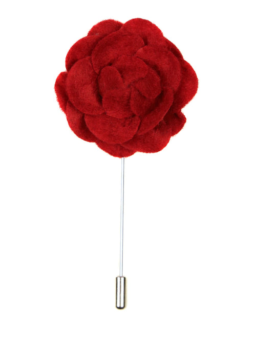 DÉCLIC Felt Rose Lapel Pin  - Red